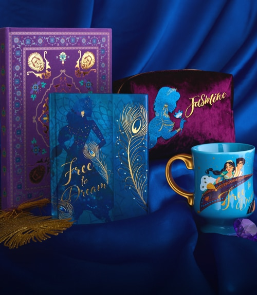 Aladdin inspired mug, makeup bag and notebook