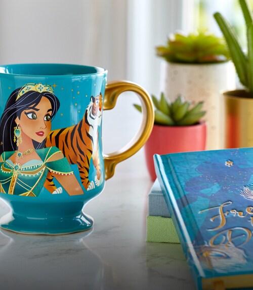 Jasmine mug and notebook