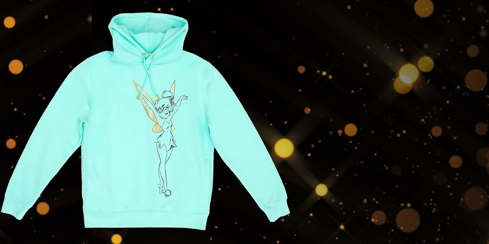 Disney Store Tinker Bell Hooded Sweatshirt For Adults