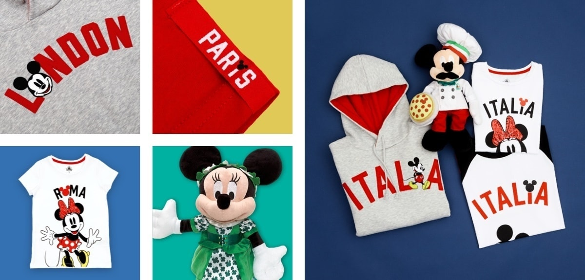 Soft toys and clothing, inspired by famous cities