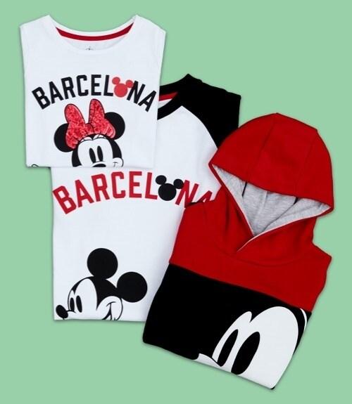 Camisetas y sudadera inspiradas en Barcelona.