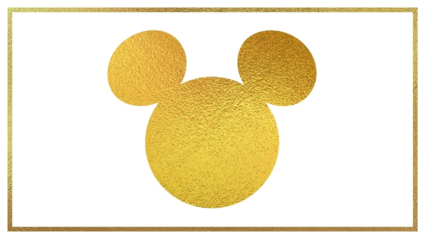 Gold Mickey Mouse silhouette