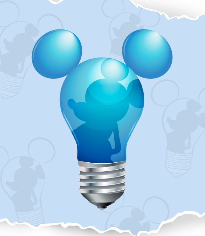 Mickey Mouse lightbulb graphic