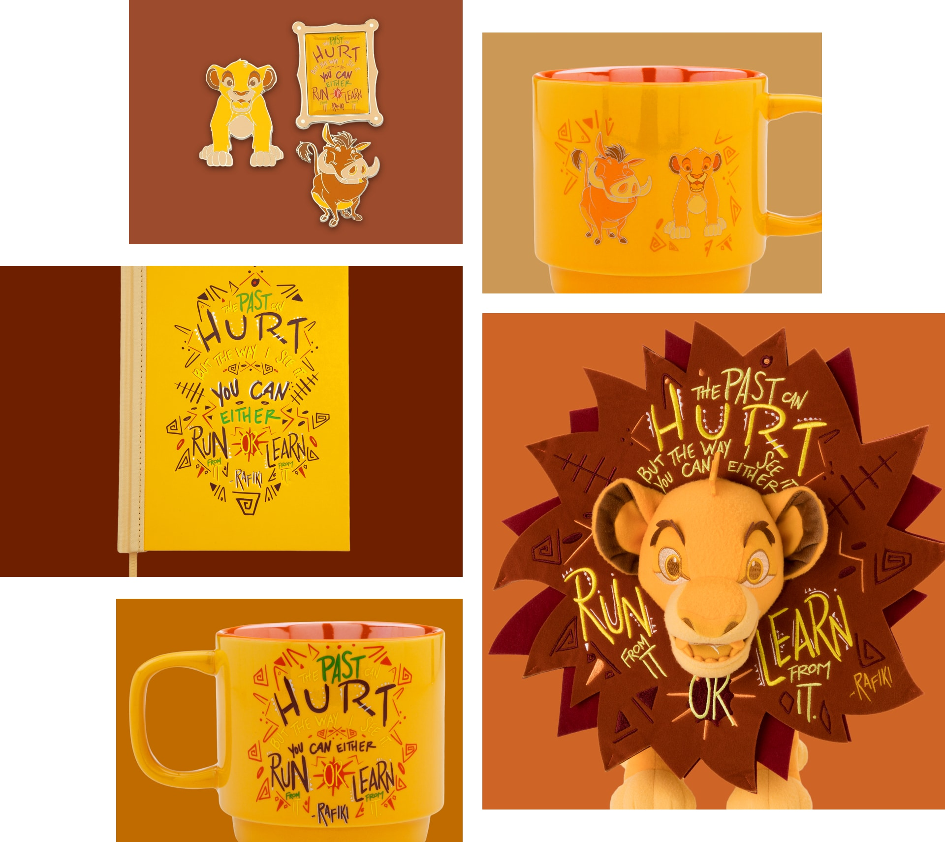 Simba inspired Soft Toy, Notebook, Pin Set and Mug