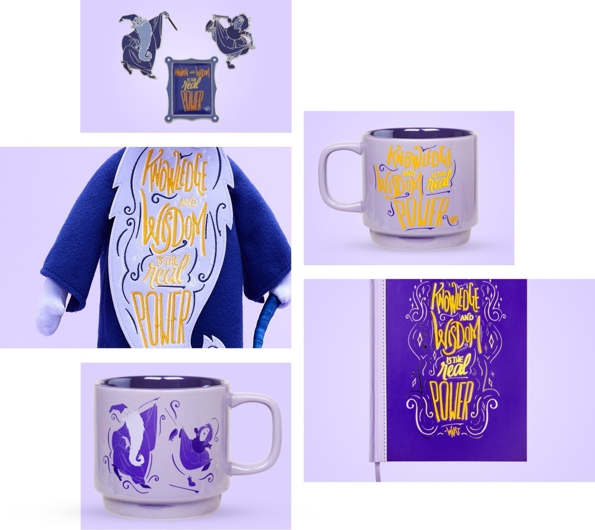 Merlin inspired Soft Toy, Notebook, Pin Set and Mug