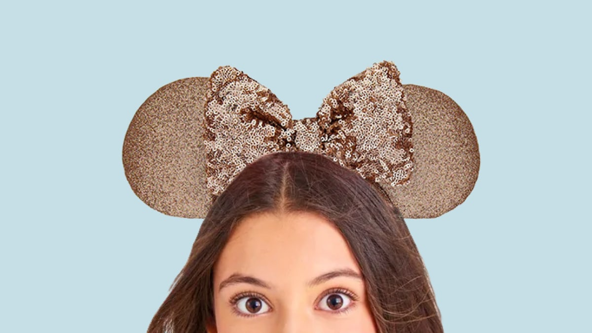 Disneyland Paris Minnie Mouse Sequined Ear Headband