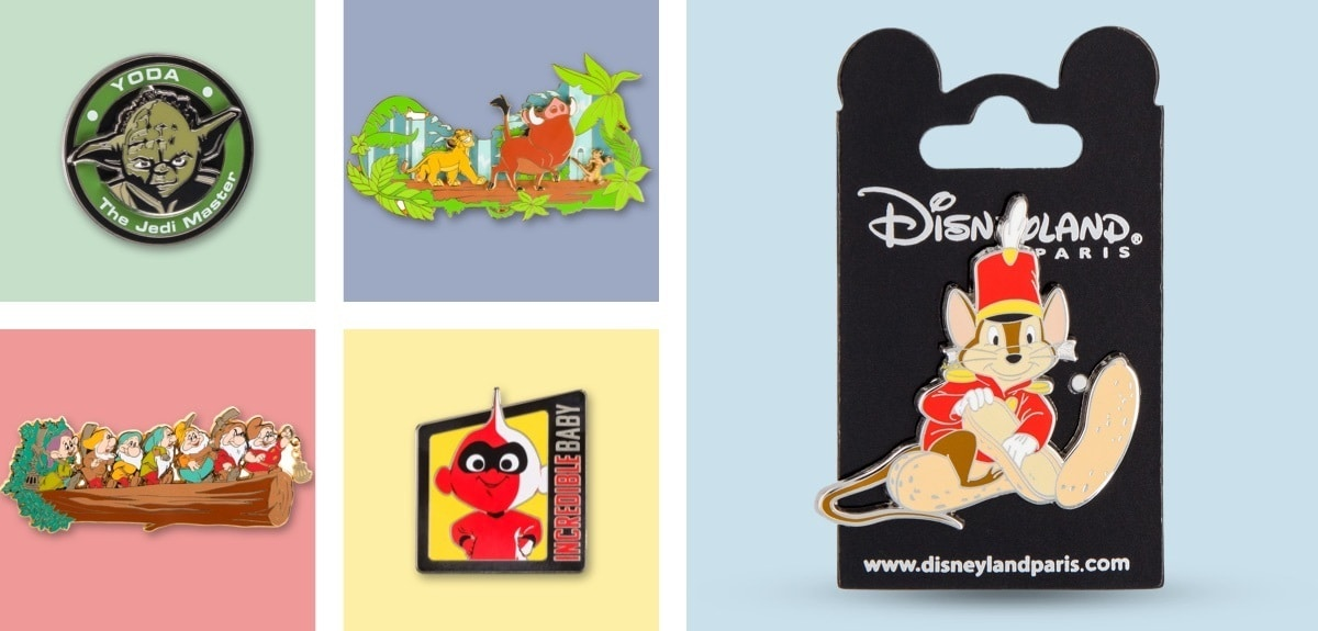 Disney Pins, Star Wars Pins, Lion King Pins from Disneyland Paris