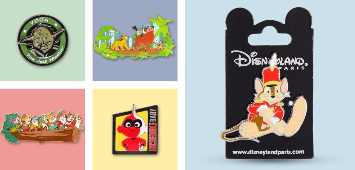Disney Pins, Star Wars Pins, Lion King Pins from Disneyland Paris