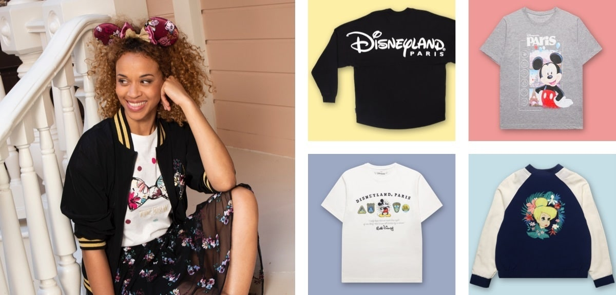 A selection of clothing from Disneyland Paris
