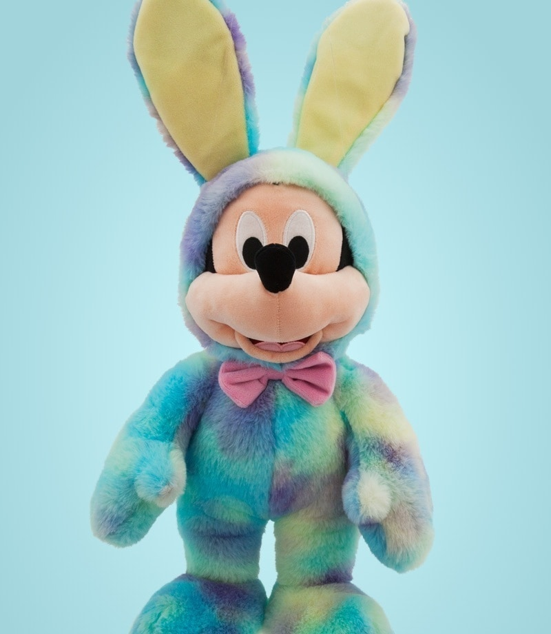 Mickey Mouse soft toy dressed as a bunny