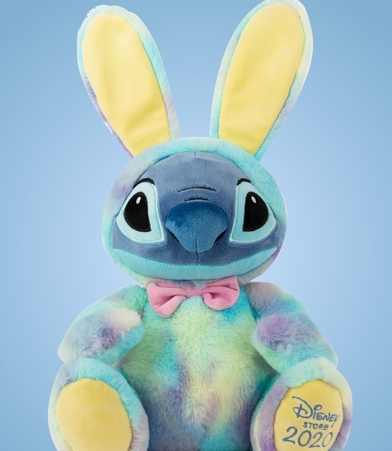 Stitch soft toy dressed in bunny outfit