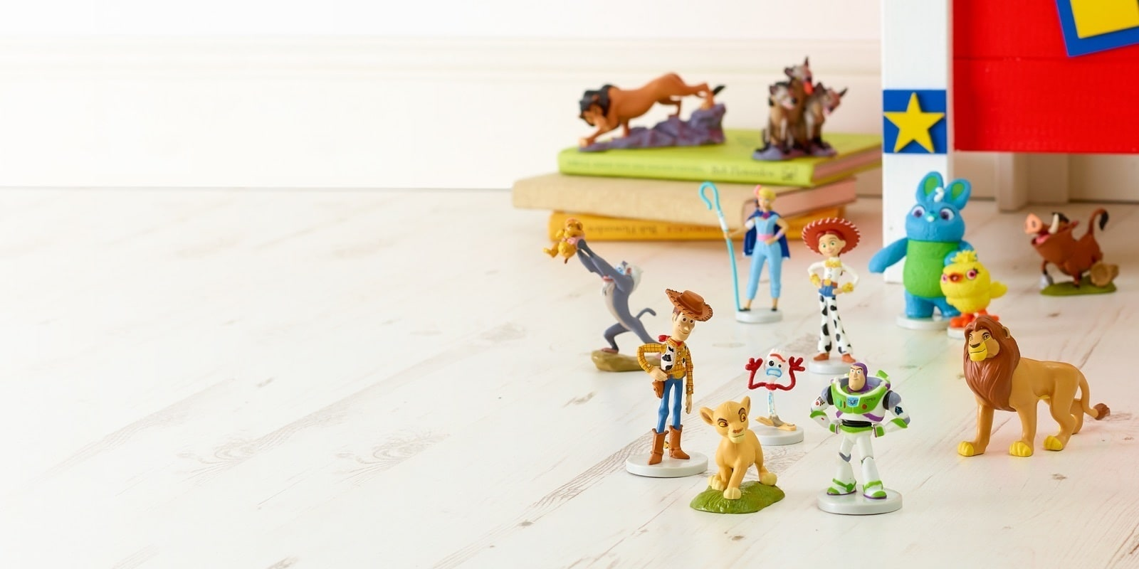 Toy Story and Lion King figures