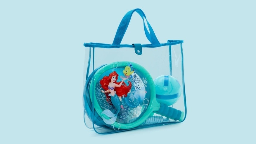 The Little Mermaid Sports Bag. The sleek tote bag features classic character artwork, and contains an array of outdoor activities.
