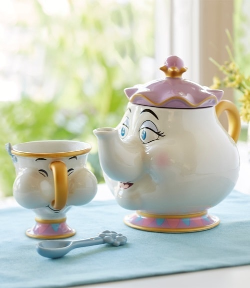 Beauty and The Beast, juego de té inspirado en Mrs Potts and Chip