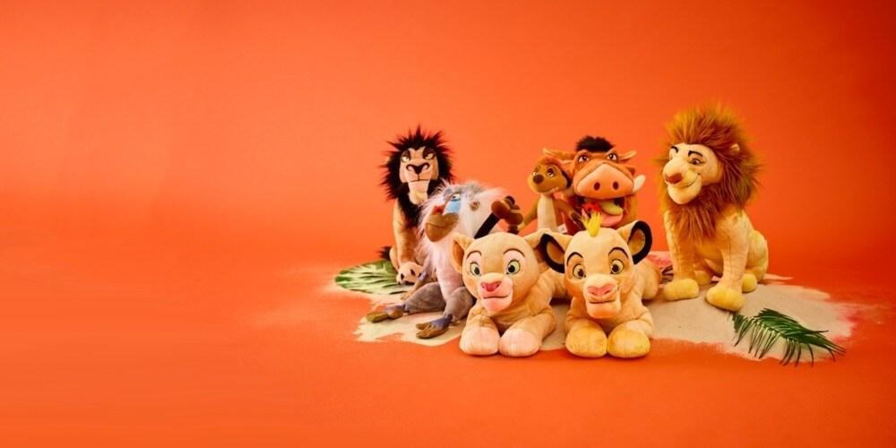 Simba en Nala geïnspireerd zacht speelgoed.