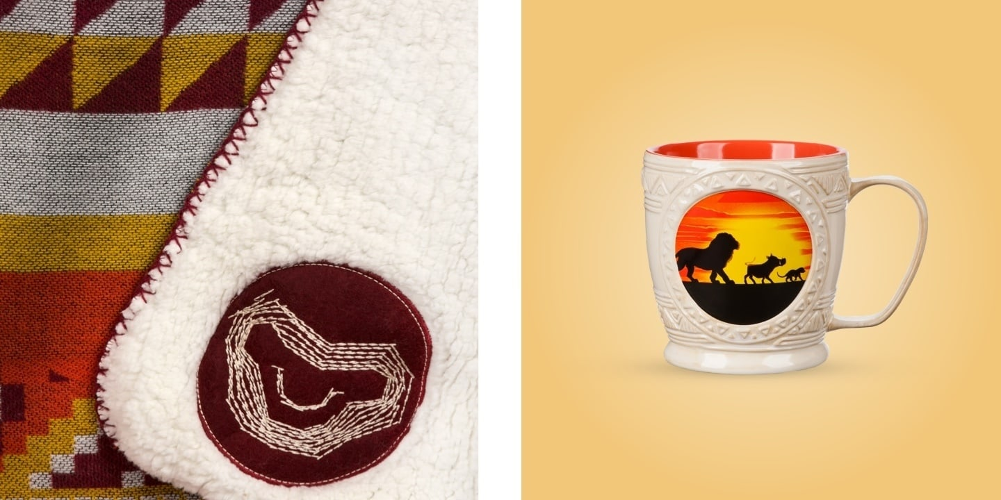 A selection of The Lion King inspired homeware.