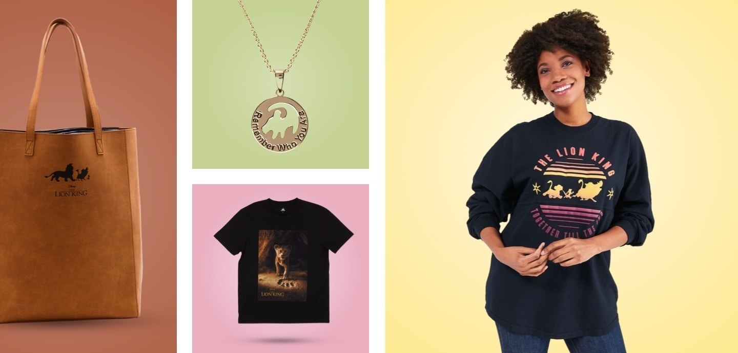 A selection of The Lion King inspired clothing and accessories.