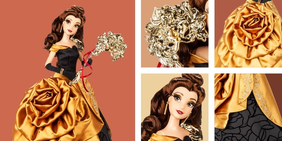 A doll of Belle from the Midnight Masquerade Collection at shopDisney