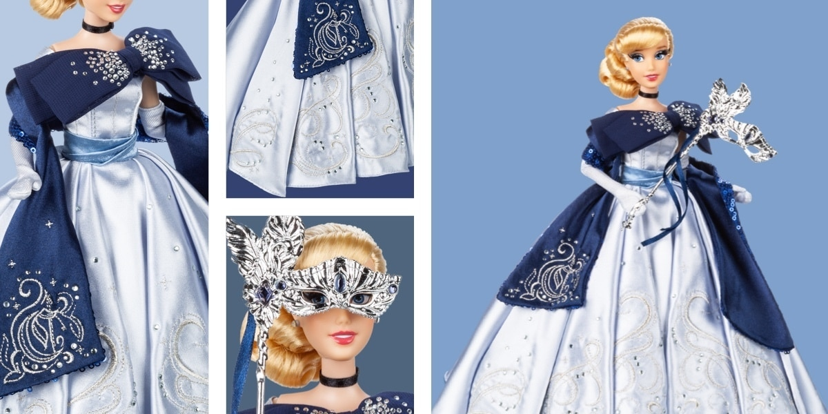 A doll of Cinderella from the Midnight Masquerade Collection at shopDisney