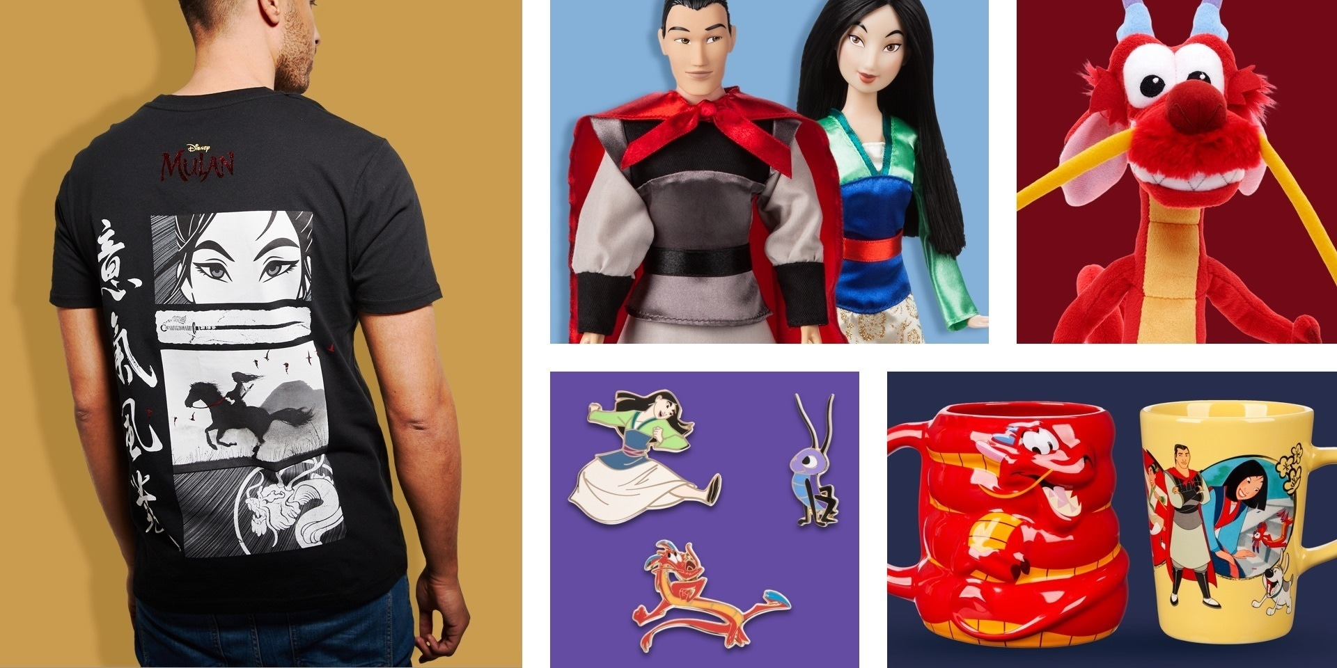 A selection of products inspired by Mulan