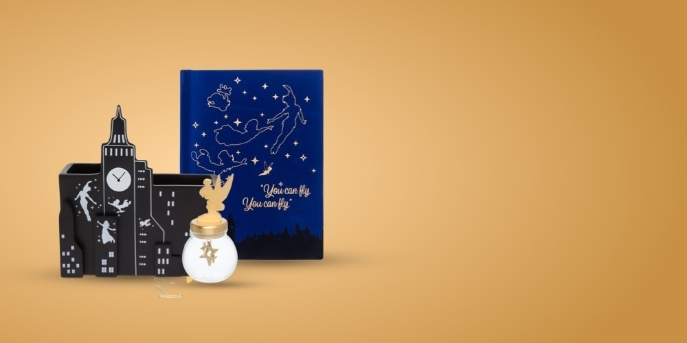 A selection of Peter pan inspired stationery