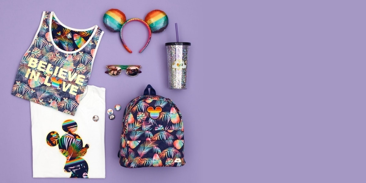 A selection of rainbow inspired products.