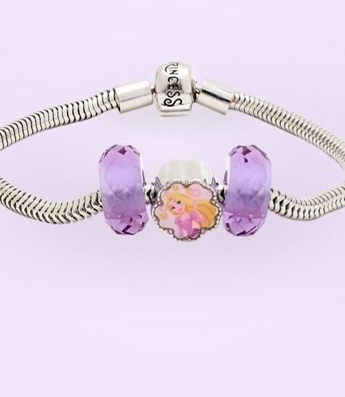 Rapunzel inspirierte den Charme eines silbernen Armbands