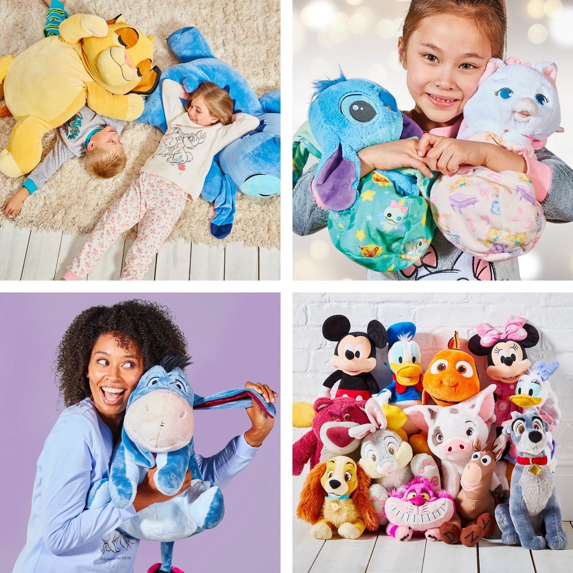 Una selección de peluches disponible en shopDisney