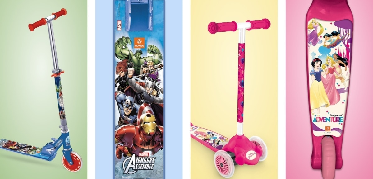 Scooter Twist and Roll de Marvel, scooter Twist and Roll de Princesse Disney