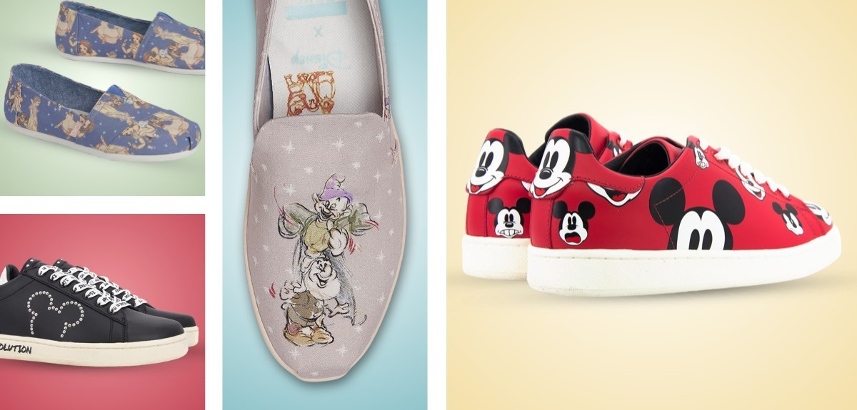 Master of Arts footwear featuring Mickey Mouse