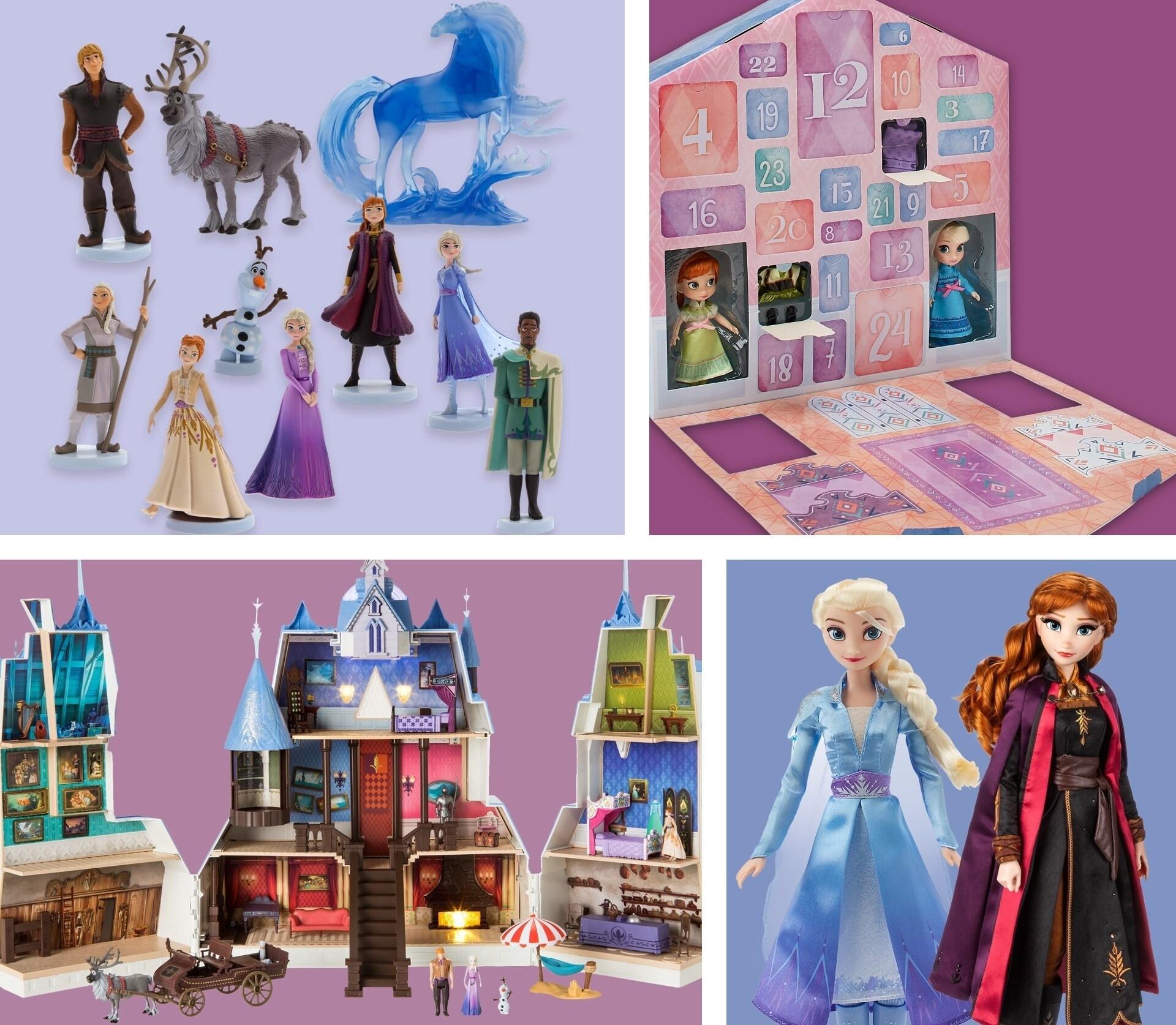 Una selezione di giocattoli a tema Frozen