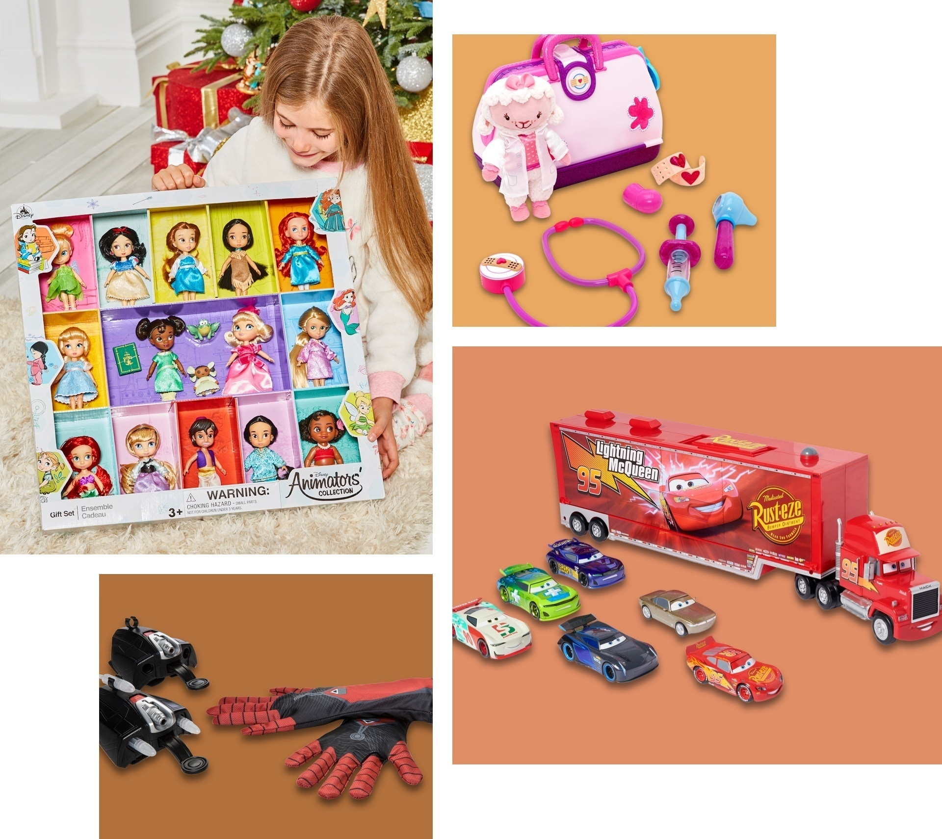 Una selezione di giocattoli a tema Disney