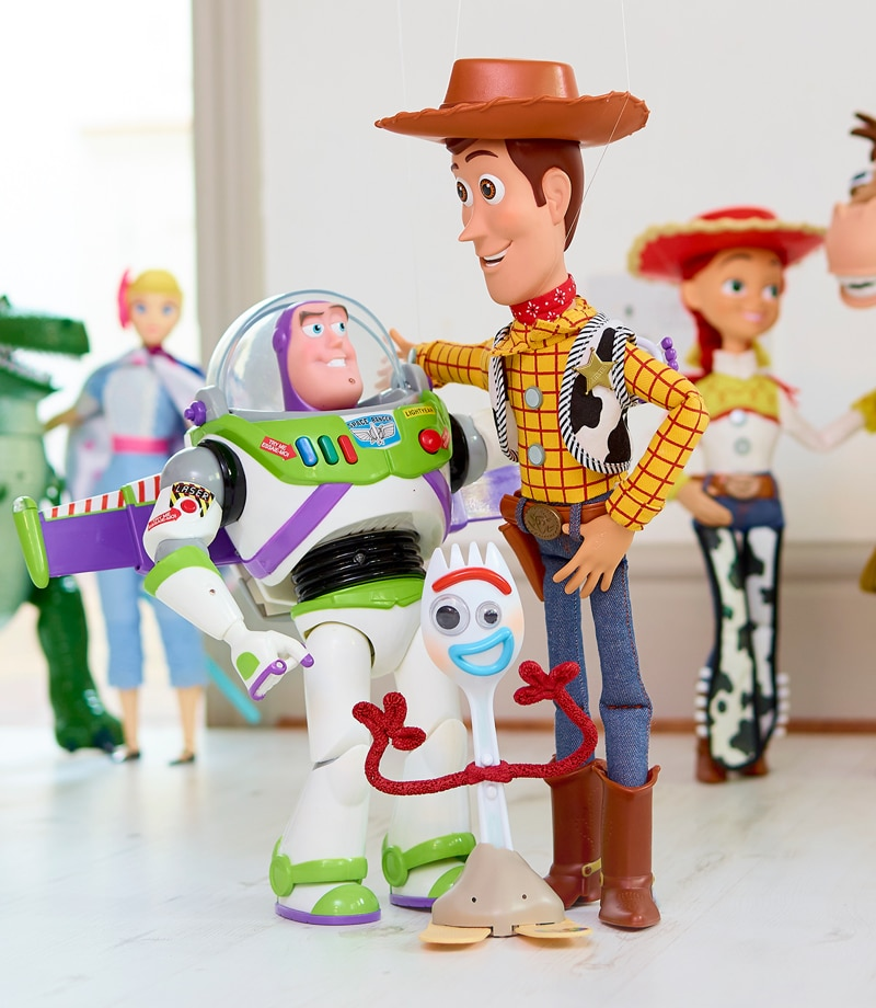 Talking action figures ispirate a Buzz, Woody e Forky