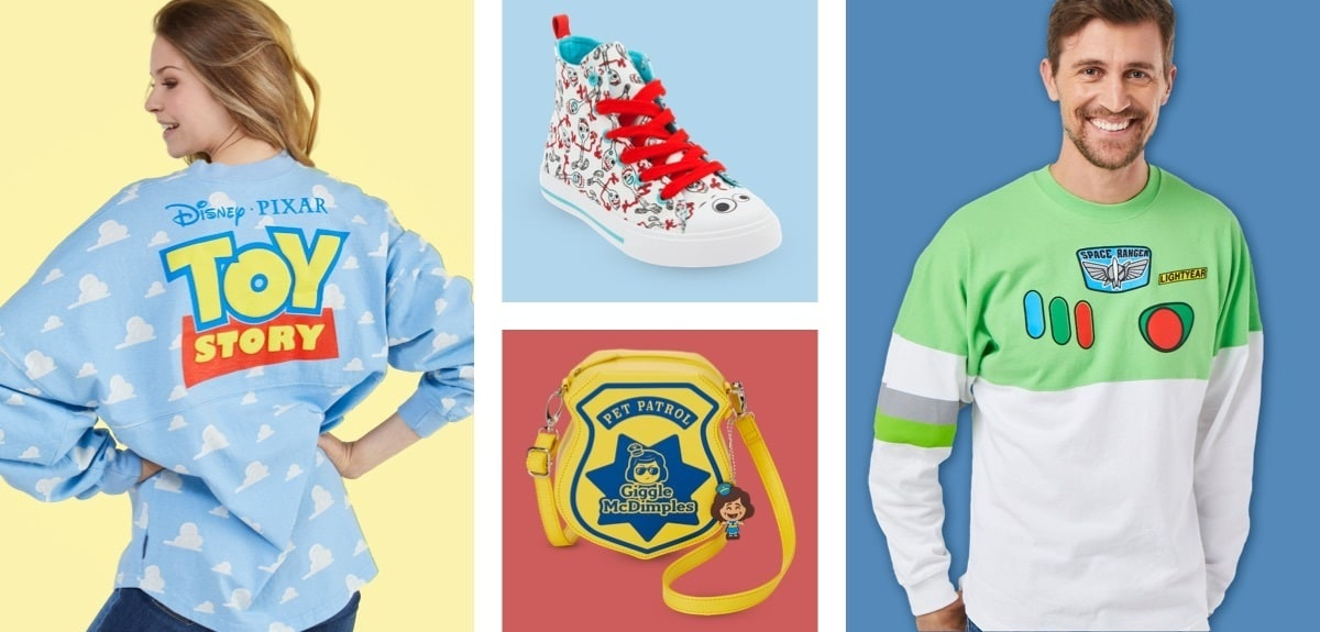 A selection of Toy Story inspired clothing and accessories