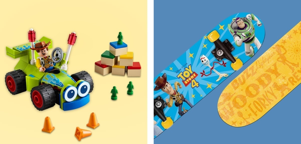 Toy Story 4 inspired skateboard and LEGO