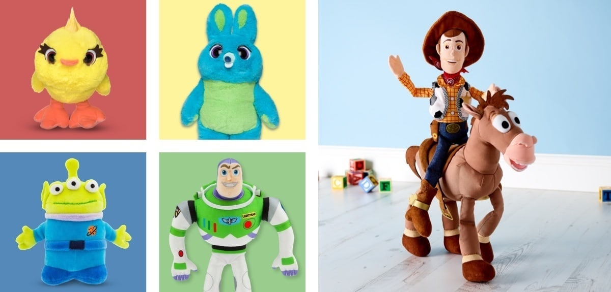 A selection of Toy Story inspired soft toys