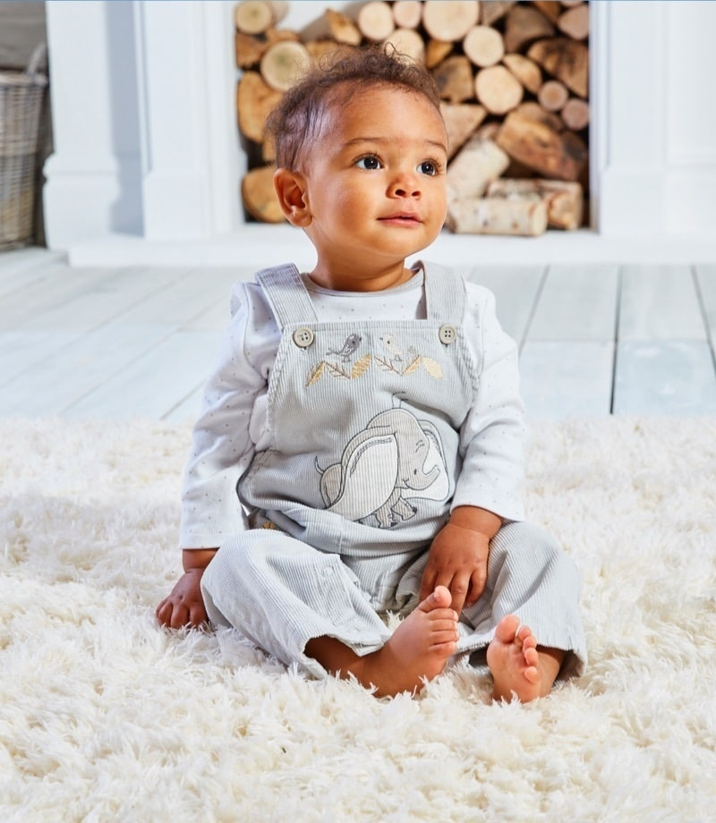 Dumbo Pinafore and Body Suit Set