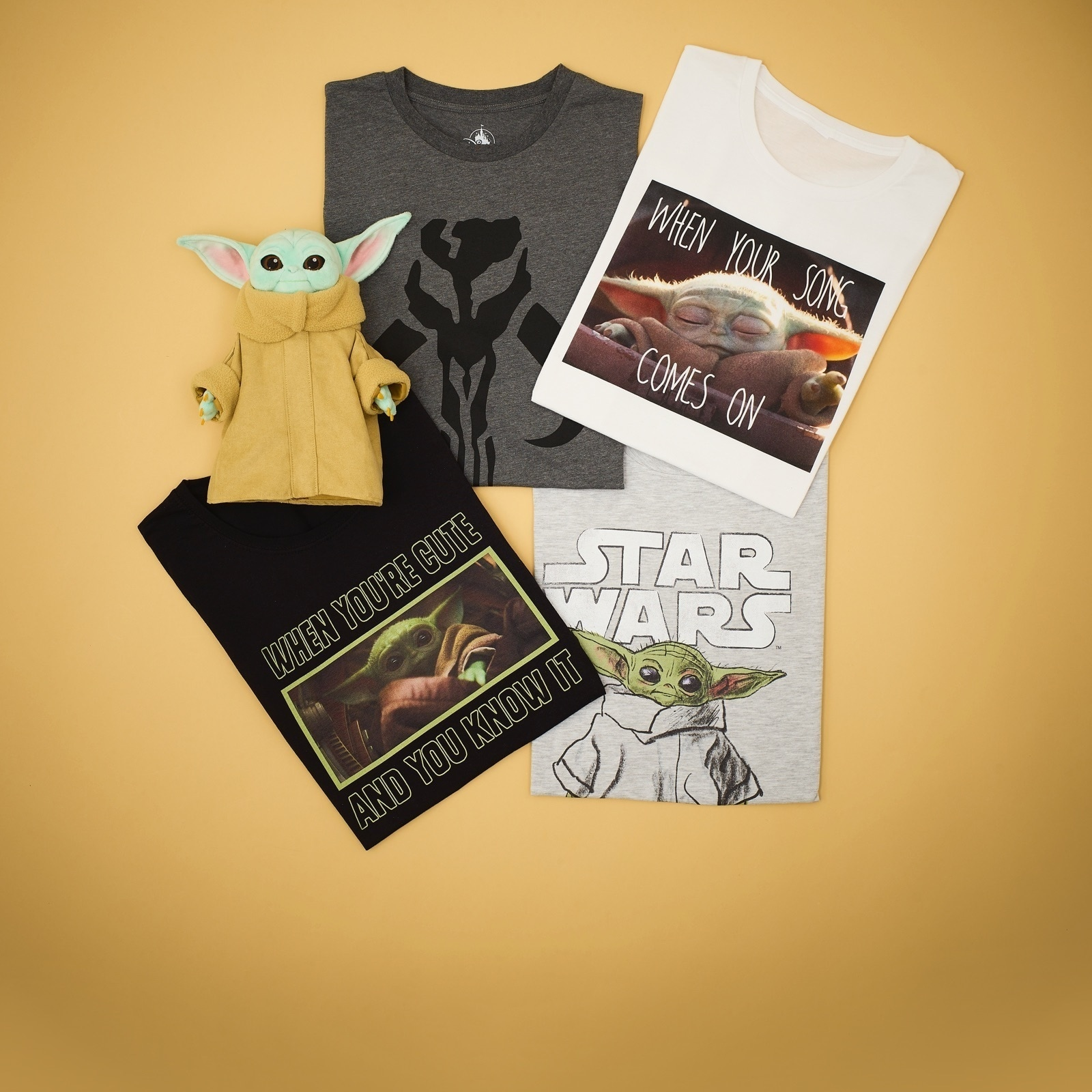 A selection of products inspired by the Mandalorian