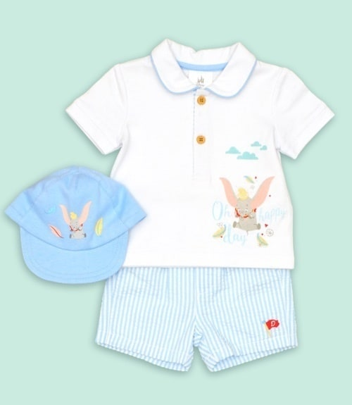 Dumbo Baby Shirt, Shorts and Hat Set
