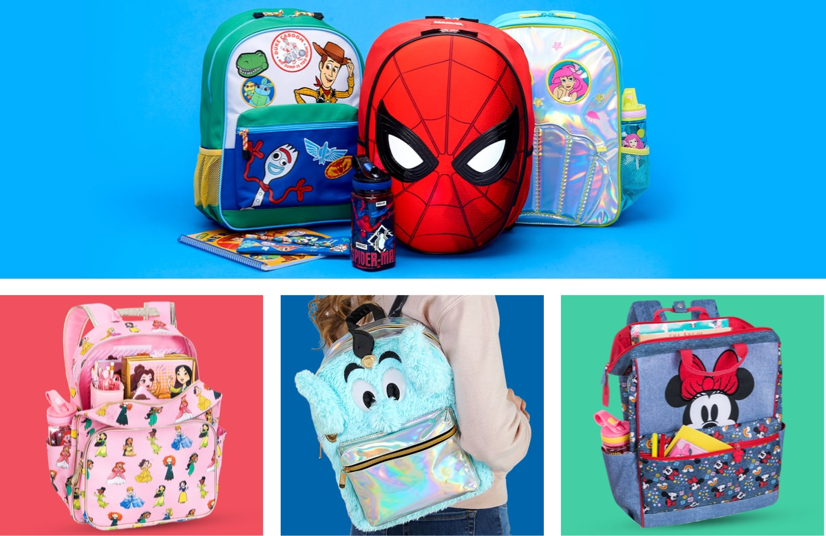 A selection of Disney Back packs