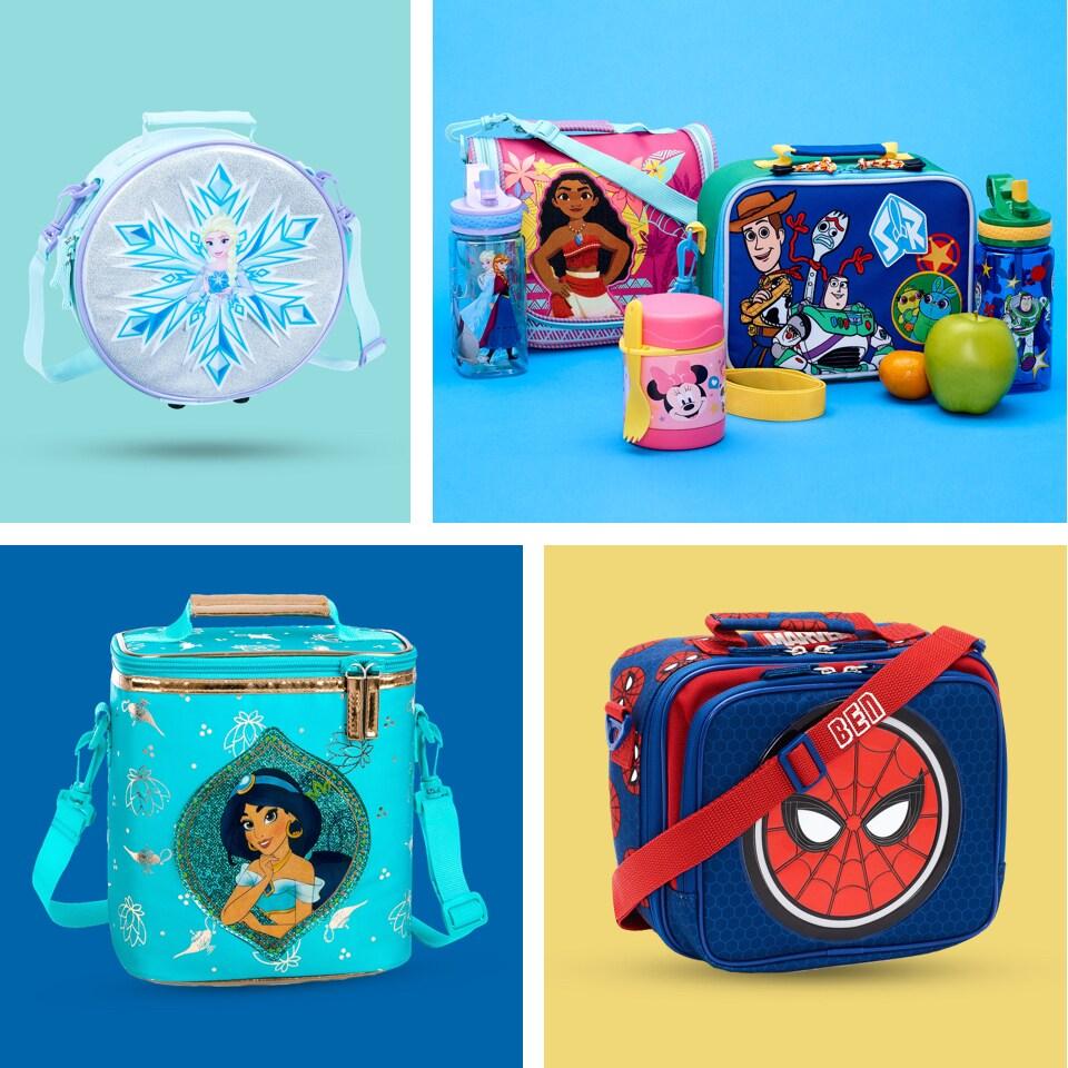 Mochila Escolar Princesas Disney Store Original Com Rodinhas