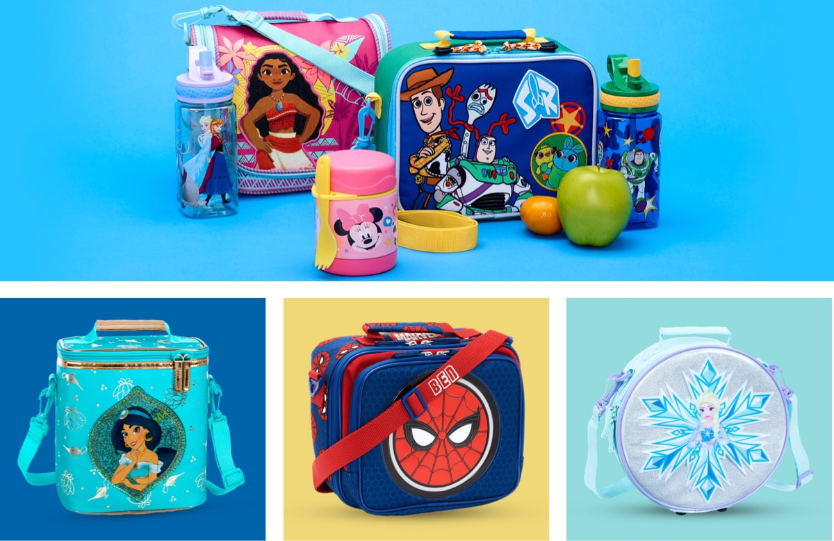 A selection of Disney Lunchboxes