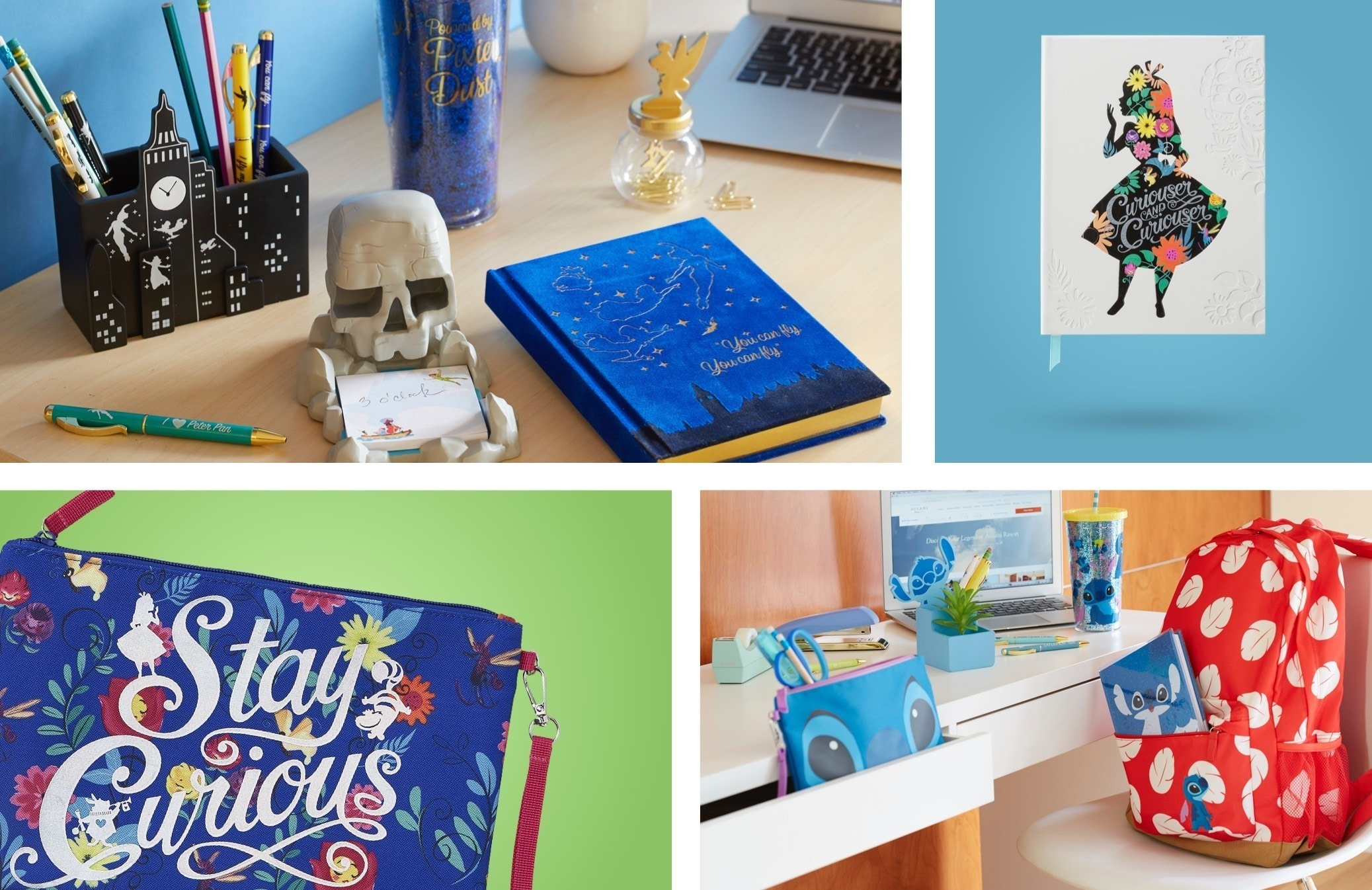 Various stationary and desk items available at shopDisney