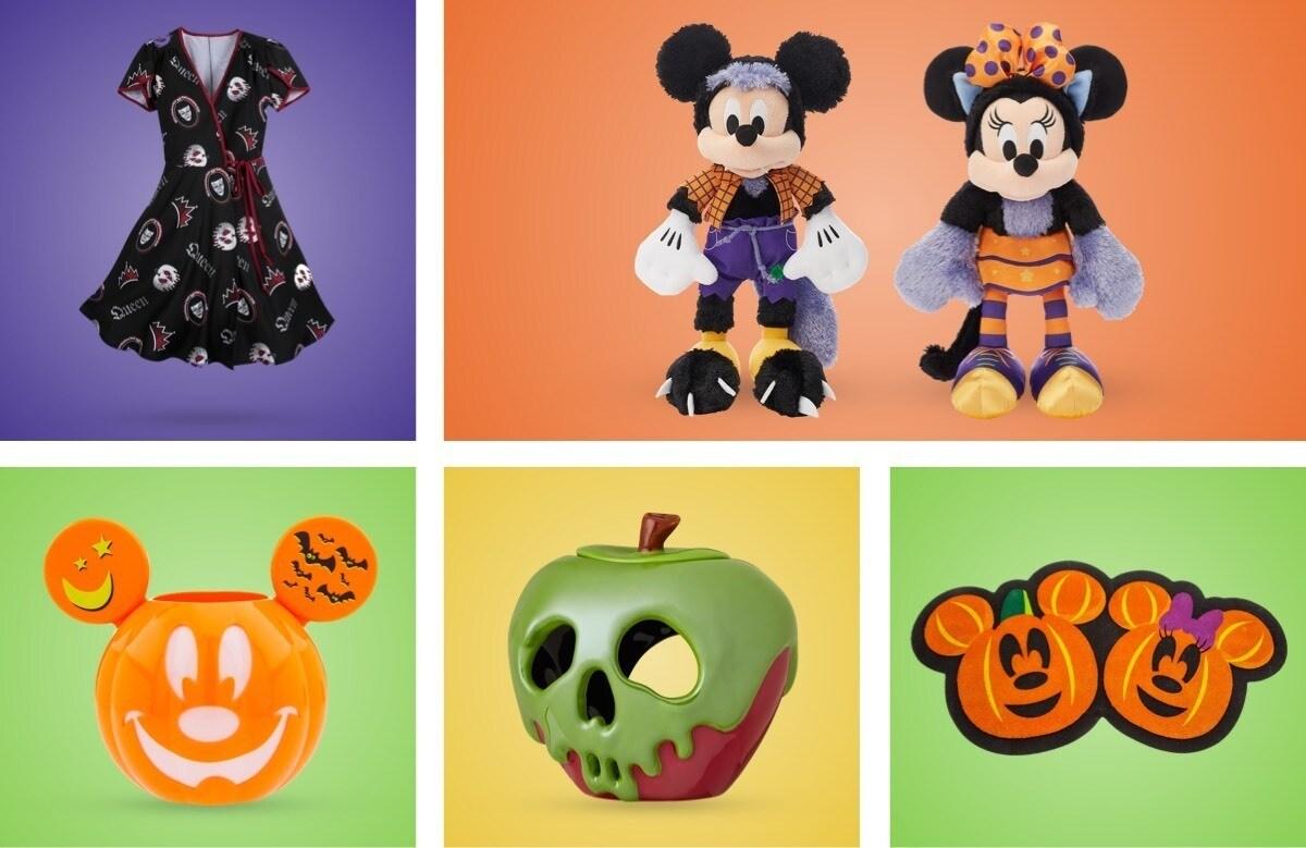 Una selección de productos de Halloween de shopDisney