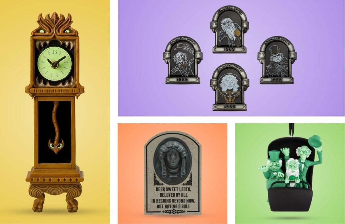 Una selezione di prodotti per festeggiare i 50 anni della Haunted Mansion disponibili su shopDisney