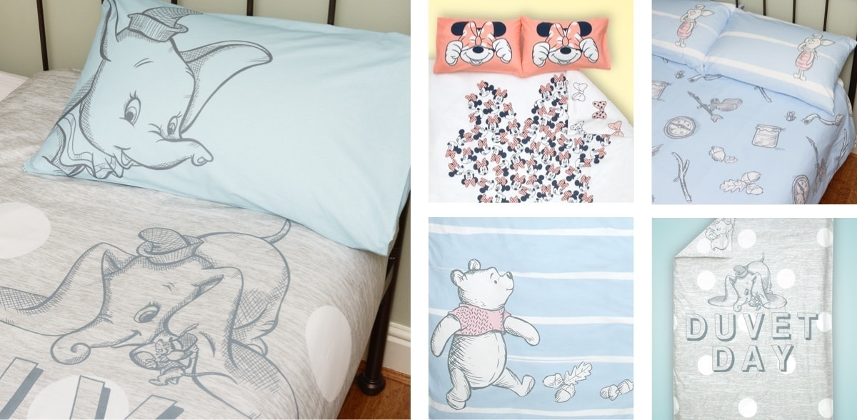 Dumbo bedding set, Minnie Mouse bedding set, Winnie the Pooh bedding set