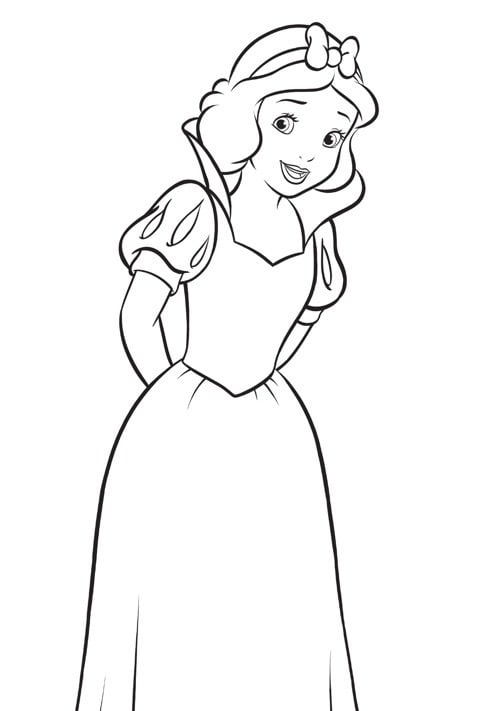 Disney Princess - Snow White Colouring Sheet