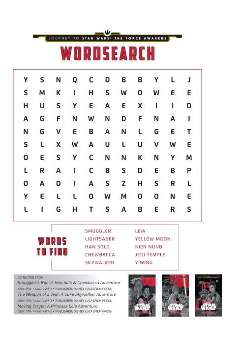 Star Wars Activity Sheet - Word Search PDF