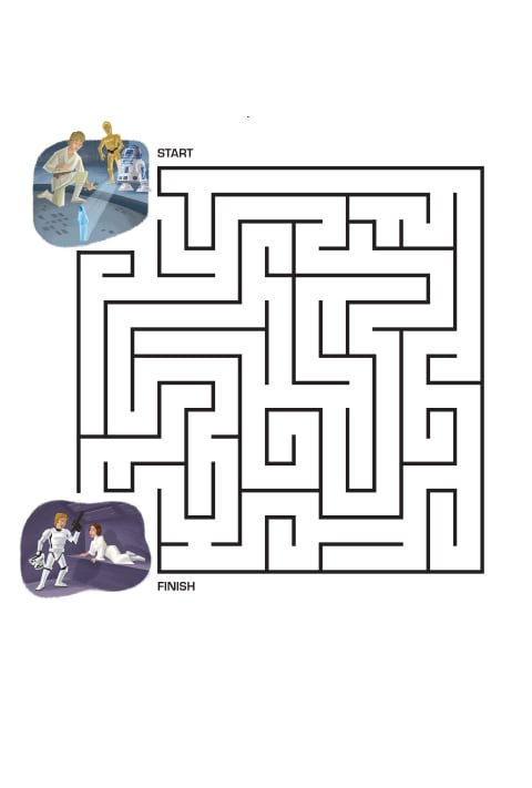 Star Wars Activity Sheet - Maze PDF