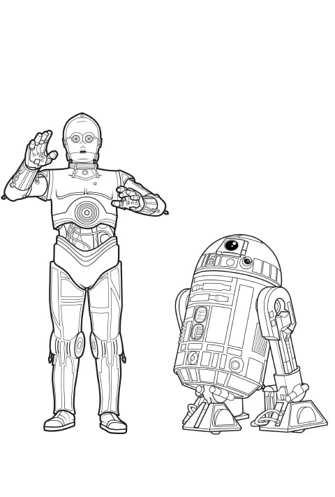 Star Wars Activity Sheet - R2D2 and C-3PO PDF